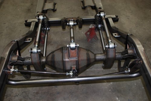 1969 Camaro Combination 3 & 4 Link Rear Suspension is Powered by Spohn Del-Sphere Pivot Joints