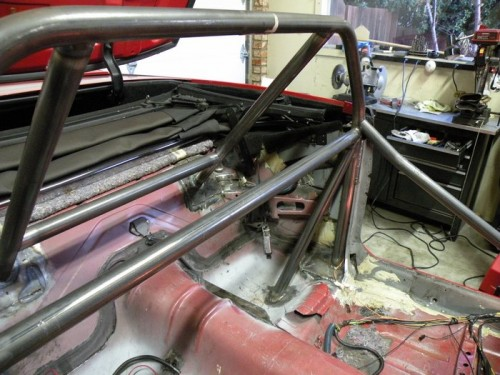 F-Body Camaro Firebird Convertible Roll Cage Installation 15
