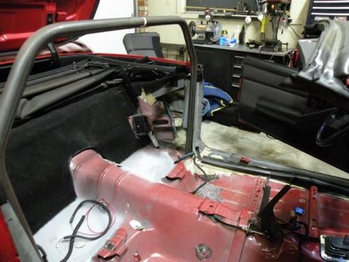 F-Body Camaro Firebird Convertible Roll Cage Installation 3