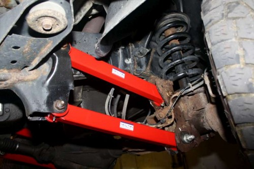 Dodge Ram Front Upper & Lower Control Arms Installed